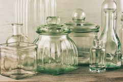 Glassware collection Stock Photos