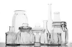 Glassware collection Stock Photos