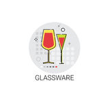 Glassware Cooking Glass Dishes Utensils Icon Royalty Free Stock Photos