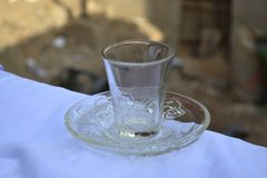 Glassware Cup and Saucer Stock Images
