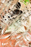 Glassware, glassful i win szkła, zdjęcia stock