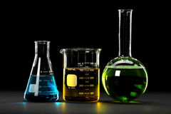 glassware laboratorium zdjęcia royalty free