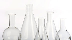 Glassware in laboratory Royalty Free Stock Photos