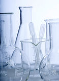 Glassware in laboratory Royalty Free Stock Image