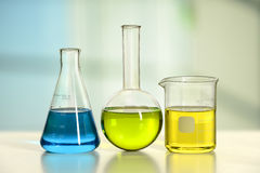 Glassware on Laboratory Table Stock Image