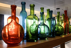 Glassware in Mediterranean style and colors Royalty Free Stock Photography