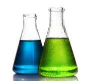 glassware odosobnione laboranckiego testa tubki Obrazy Stock