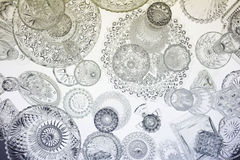 Glassware pattern on table Stock Photo