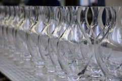 Glassware production Royalty Free Stock Photography
