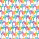 Glassware seamless pattern. Background, texture, textile Royalty Free Stock Photos