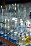 Glassware sold at a store in Dapitan Arcade in Manila, Philippines Stock Images