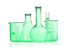 glassware test odosobniony laborancki ruruje biel Laborancki Glassware Zdjęcia Royalty Free
