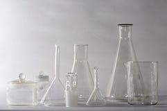 Glasswares de laboratoire Photo libre de droits
