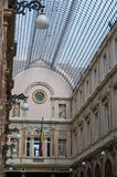 Glasswork and architectural details of the Queens gallery in Brussels. Stock Photos