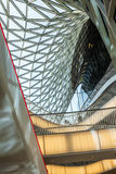 Glasswork inside the myZeil center Royalty Free Stock Image