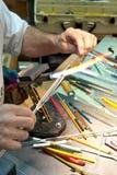 Glassworker's Workbench Royalty Free Stock Photos