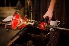 Glassworks διαδικασία παραγωγής στοκ φωτογραφίες με δικαίωμα ελεύθερης χρήσης