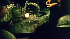 Glassworks van het Muranoeiland stock video