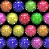 Glassy 3D Balls. Isolated over black in an assortment of colors.  These work great for use as buttons or icons Stock Image