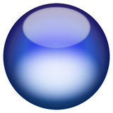 Glassy 3D Button Stock Photography
