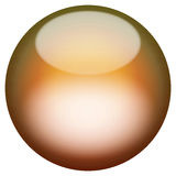 Glassy 3D Button. A 3d sphere isolated over white for buttons or icons - look for more colors in my portfolio Royalty Free Stock Photo