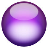 Glassy 3D Button. A 3d sphere isolated over white for buttons or icons - look for more colors in my portfolio Stock Photo
