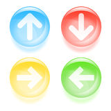 Glassy arrow icons Stock Photography