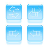 Glassy arrow icons Royalty Free Stock Image