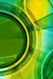 Glassy Background. Abstract Glassy Yellow-Green Background. 3D Render illustration. Cool Vertical Corporate Background Design Stock Images
