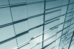 Glassy Background. Abstract Corporate Glassy Background. Glass Blocks 3D Rendered Corporate Background. Horizontal Illustration Stock Image