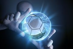 Glassy Ball Projection Royalty Free Stock Images