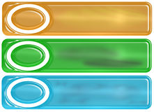 Glassy Banners Royalty Free Stock Photo