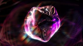 Syko 1080p Mysterious Glamorous Orb-like Video Background Loop. A glassy blob floating in mid-air.. a bit weird, yes, but gorgeous to look at royalty free illustration