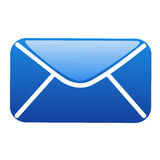 Glassy blue  E-mail icon Royalty Free Stock Image