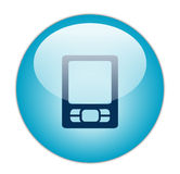 Glassy Blue PDA Icon Stock Images