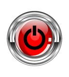 Glassy Button With Start Symbol Royalty Free Stock Image