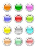 Glassy buttons Stock Images