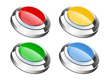 Glassy buttons Royalty Free Stock Photos