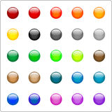 Glassy buttons. Glassy circular buttons of different colors Stock Photo