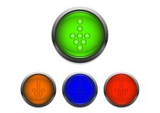Glassy buttons Royalty Free Stock Images