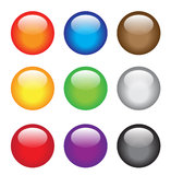 Glassy buttons Stock Photo