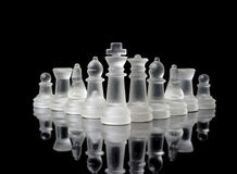 Glassy chess figures Royalty Free Stock Image