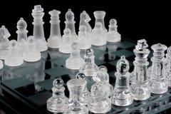 Glassy chessboard opening Stock Image