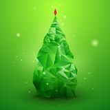 Glassy Christmas Tree. Abstract vector background. Christmas background. Holiday background. Christmas poster. Green background. Vector illustration. Abstract Royalty Free Stock Photography