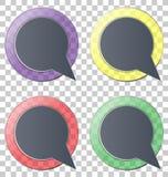 Glassy circle icons on grey Royalty Free Stock Image