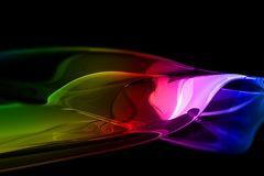 Glassy Colorful Abstract Stock Image