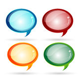 Glassy dialogue bubbles Stock Photography
