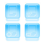 Glassy document icons. Stock Images