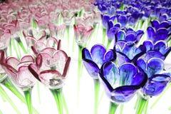 Glassy  flower at xmas lighting Stock Photography
