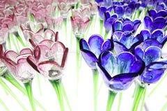 Glassy  flower at xmas lighting Stock Photo